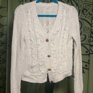 Zara crop cardigan sweater